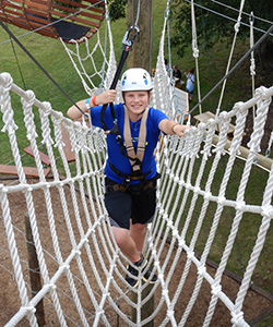 GEAR UP student on ropes course